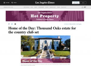 Sherwood Country Club LA Times Hot Property