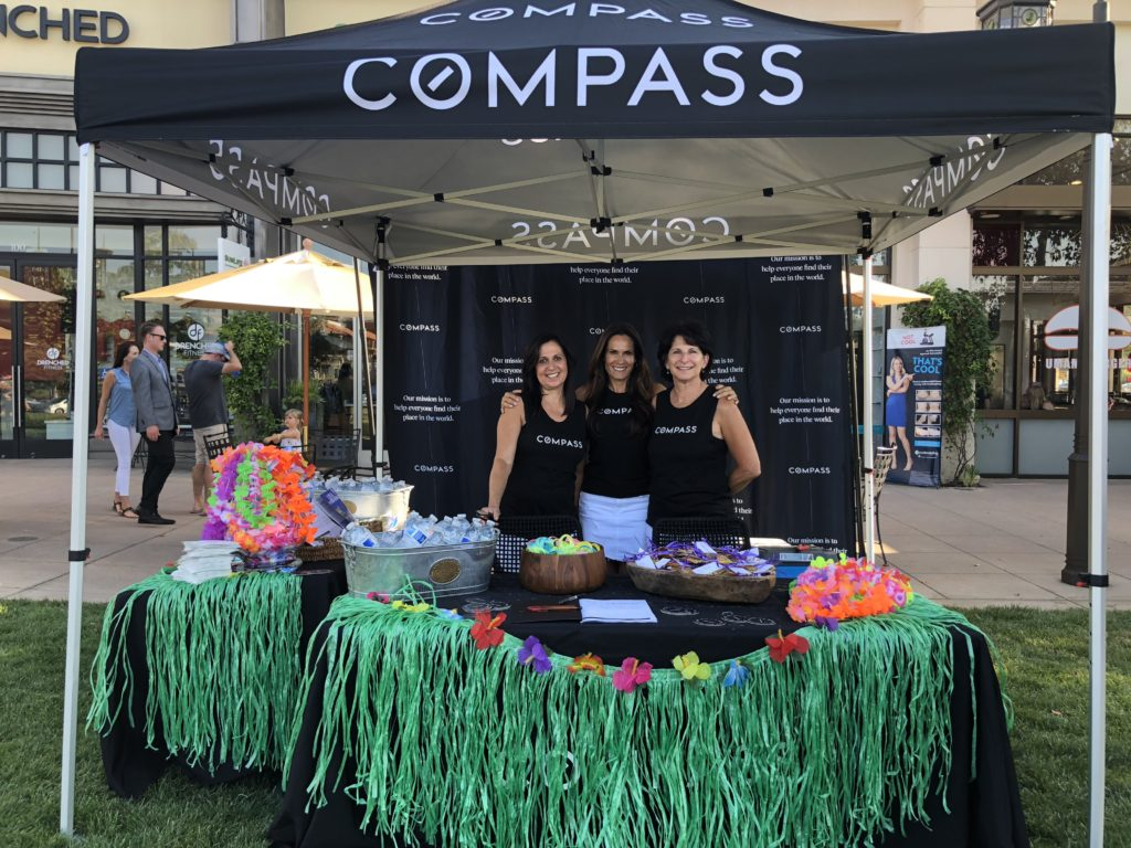 Nicki & Karen Compass Real Estate team at The Lakes Movie night on the Lawn in Thousand Oaks