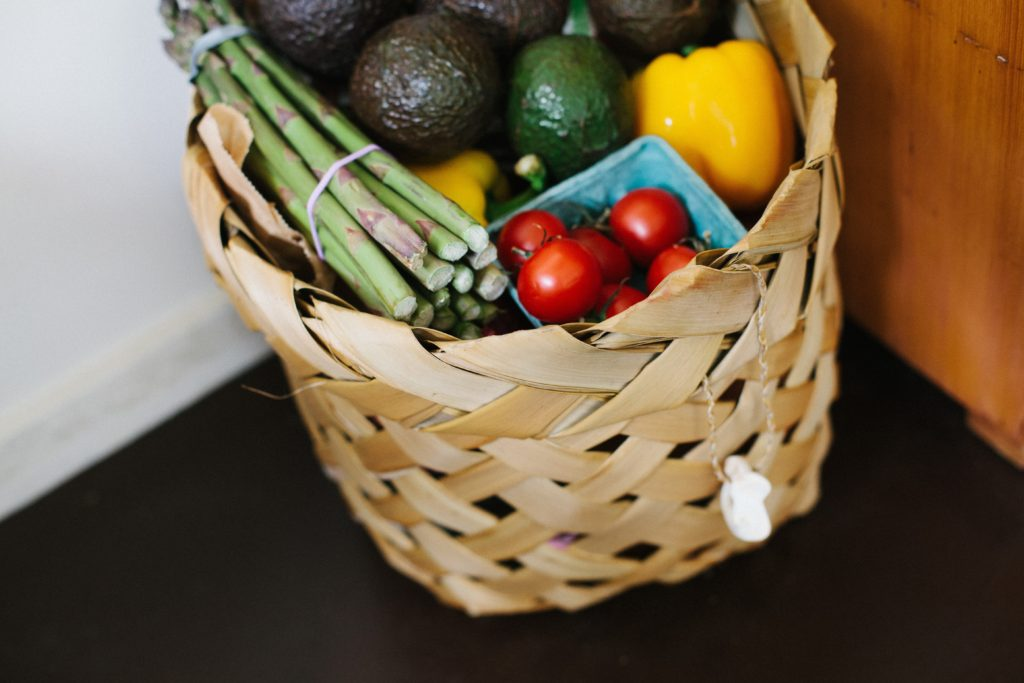 grocery basket vegetables