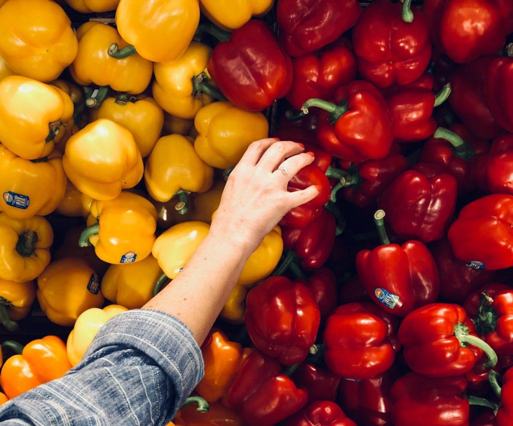 picking bell pepper