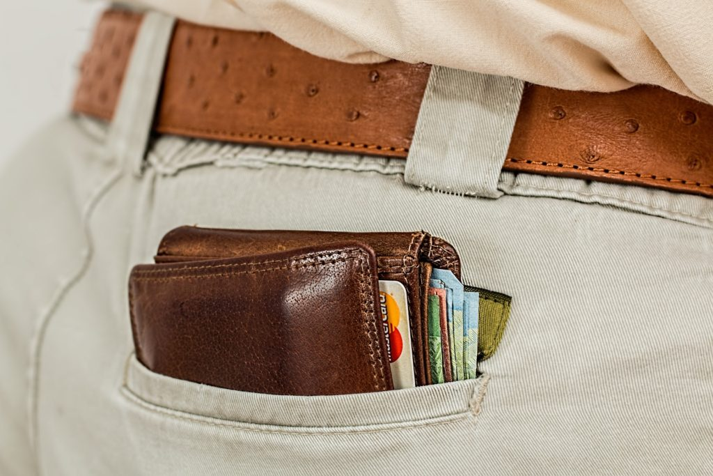 wallet in back pocket of pants