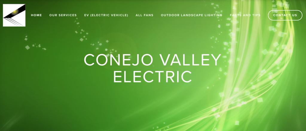 Conejo Valley Electric website homepage