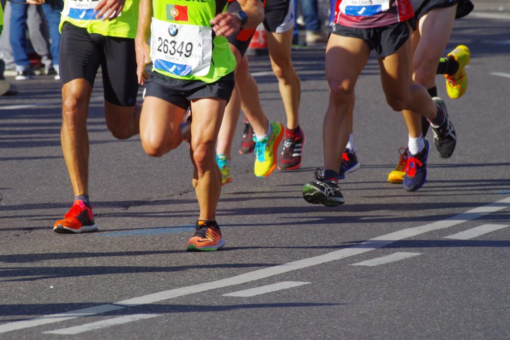 Group of marathon runners