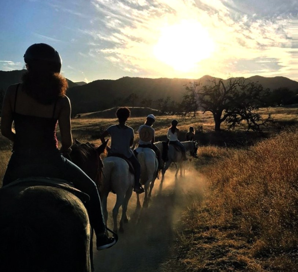 Malibu riders on horseback in Agoura Hills