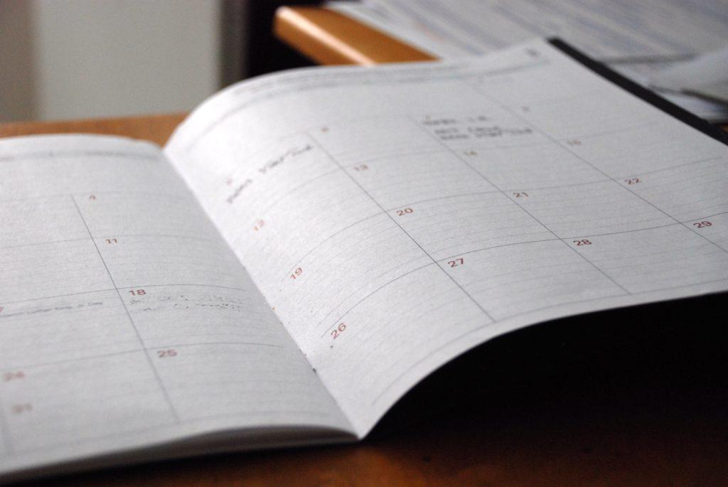 open calendar to plan remodel