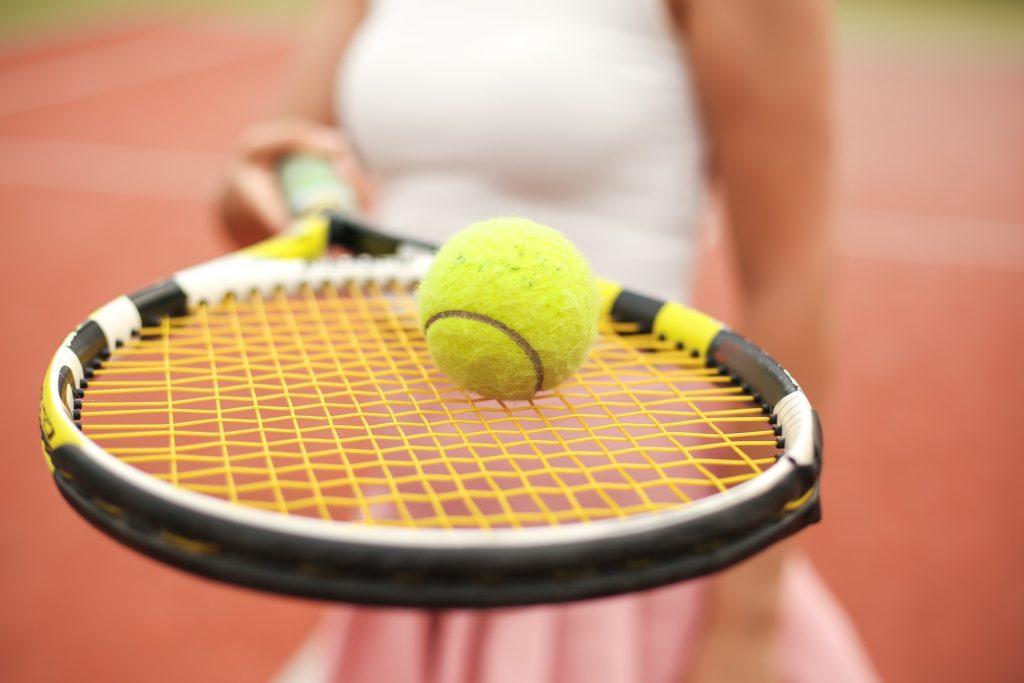 playing tennis at North Ranch Country